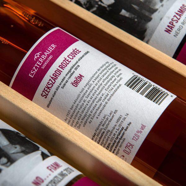 Öröm Szekszárdi Rosé Cuveé 2018 címke
